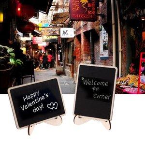 Vente en gros 20pcs DIY Assemblé Mini Blackboard message Black Board Party de mariage en bois Étiquettes de bureau en bois Fournitures scolaires Chalkboard
