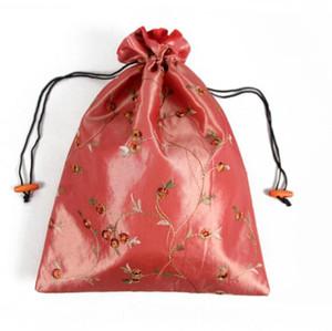 27 * 37cm tradizionale cinese Embroiderd donne Highheel Sacchetti di scarpe di seta borsa borsa con coulisse borsa di stoccaggio SN917