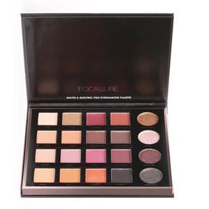 Focallure New Glitter Palette per ombretti 20 colori Mineral Eye Shadow Makeup Shimmer Pigment Calde Nude Palette per ombretti metallizzate