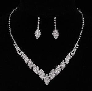 Frauen-Schmuck-Set Lassen Sie Shaped Long Ohrring und Halskette Set für Braut Hochzeit Schmuck Frauen Geburtstagsgeschenk