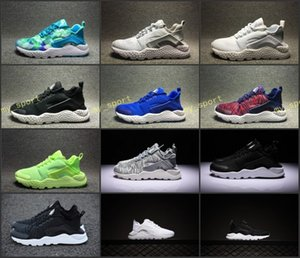 2018 TOP Quality Huarache 3 III Running Shoes For Women & Men,Black White Red Leather Sneakers Huaraches Sport Shoes 36-45