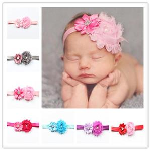 Baby Flower Head Bands neonato Tiara di cristallo hairband Baby Photography Puntelli Headwear regolabile Accessori per capelli belli