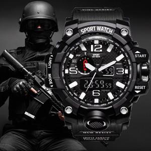 2019 Spor Saatler G Stil Adam Erkek Boys Öğrenciler için LED Dijital Askeri Saatı Şok Tarzı Saatler Saat Kauçuk Kayış Yüzmek saat
