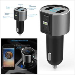 TOP-Qualität drahtloses Auto Bluetooth FM-Transmitter-Radio AdapterCar USB Charge Kit Schwarz-MP3-Player, digitale LED-Anzeige