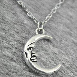 WYSIWYG Pieces Подвески металлические ожерелья цепные лица женщин 5 ювелирных изделий луна ожерелье N2-B12480 21x15mm SUQXT