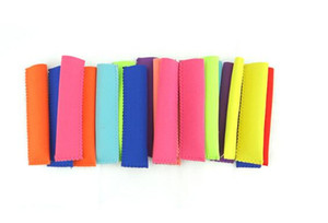 15x4cm Popsicle Holders Ice Sleeves Freezer Holders 10 colors free shipping