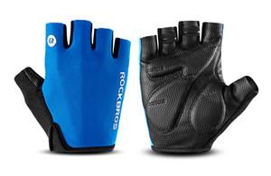 Luvas de ciclismoMountain Bike Ciclismo 3D GEL respirável anti-derrapante anti-choque luvas metade do dedo