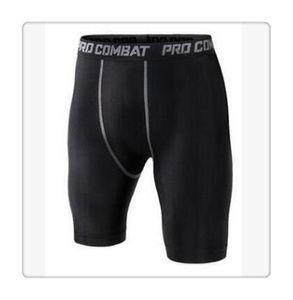 Pantalones cortos de bicicleta Bike Pantalones de compresión Lycra de hombre Ropa interior de capa base Shorts.cycling Running.box Fútbol Soccer Basketball.501 Negro