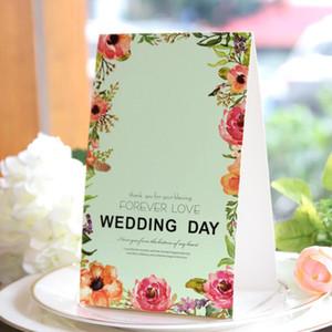 Moda Düğün Pastası Toppers Taze Tarzı Baskı Masa Kartı Hediyelik Eşya Malzemeleri Parti Hediyeler Yer Kartları Popüler Tasarım 0 82 mh ZZ