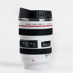 400 ml Yaratıcı Kamera Lens Şekli Fincan Kahve Çay Seyahat Kupa Paslanmaz Çelik Vakum Şişeler Şık Thermocup Hediye Ücretsiz Kargo