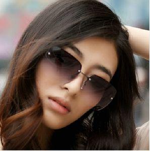 새로운 무테 선글래스 메탈 프레임 무테 안경 여성 브랜드 디자이너 안경 안경 투광기