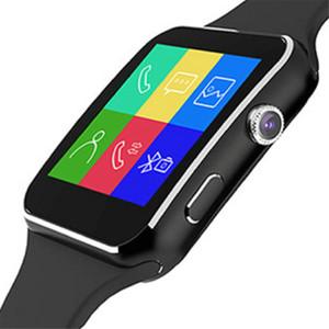 Venda por atacado bluetooth smart watch x6 smartwatch câmera cartão sim para huawei xiaomi ios apple iphone 5 6s 7 8 mais x xs max xr samsung