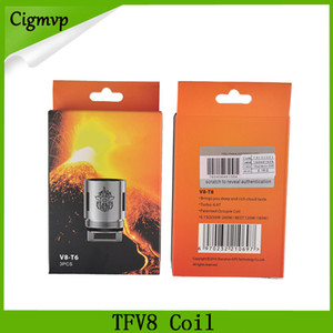 Горячие продажи TFV8 Coil Глава V8-T8 V8-T6 V8-Q4 Замена Катушки Fit tfv8 Облако Зверь танк DHL