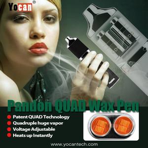 원래 Yocan Pandon 왁스 장비 1300mAh 휴대용 기화기 듀얼 쿼드 코일 마이크로 USB 충전 vaper 펜