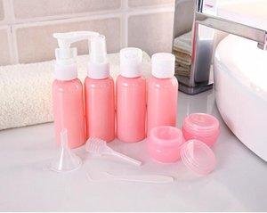 Nachfüllbare Spielraum-Flaschen Set Paket Kosmetik Flaschen Kunststoffstanzerei Sprühflasche Makeup Tools Kit für Reisen Vaporizer