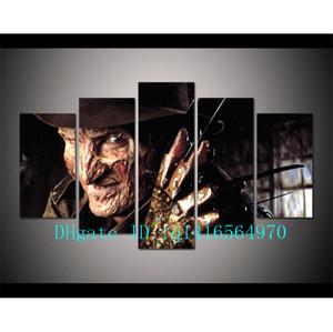 Horror Freddy Krueger, 5 Peças Cópias Da Lona Arte Da Parede Pintura A Óleo Home Decor / (Sem Moldura / Emoldurado)