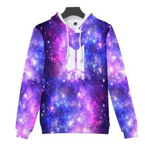 K-POP KPOP BTS Aimez-vous Starry Sky 3D Prinded Veste à capuche Femme Mode Coréenne Hip Hop Hoodie Sweatshirts Streetwear 4XL
