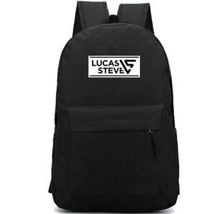 Lucas Steve backpack LS مجموعة daypack حقيبة مدرسية أعلى DJ منتج حقيبة الظهر الرياضة حقيبة مدرسية حزمة يوم في الهواء الطلق