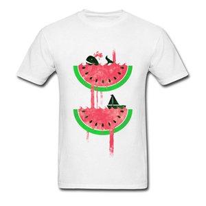 Wassermelone fällt Druck T Shirts Heißer Verkauf Dolphin Ship Digital Print Slim Fit billigere lustige T Shirts Vintage Metal T-Shirts