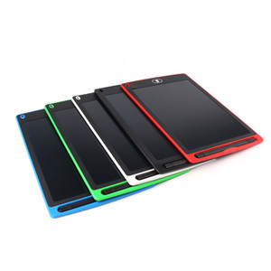 Tableta de escritura LCD de 8,5 pulgadas y 12 pulgadas Bloc de notas de cristal líquido Pizarra de alto brillo Tablero sin papel 5 colores Almohadillas