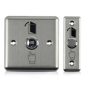 12V Stainless Steel Exit Botão de segurança Interruptor de casa Door Opener lançamento para o controle Proteção Home Segurança Magnetic Access Lock