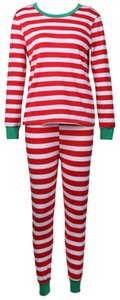 NEW 도착 여성용 Unisex 파자마 크리스마스 크리스마스 파자마 성인 용품 코튼 잠옷 잠옷 (어린이 세트 없음)
