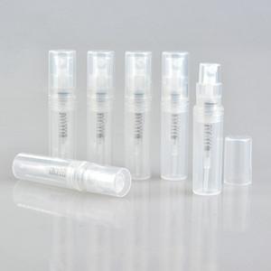 50PCS / lot vacian la mini botella de perfume plástica del espray de 2ml 3ML 4ML 5ML, pequeño atomizador del perfume de la muestra de la promoción