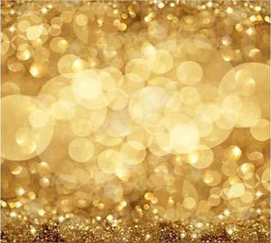 8x8ft Gold Sparkle Bokeh Fotografía de fondo para Studio Picture Photo Booth Recién nacido Baby Props Niños Merry Christmas Backdrop