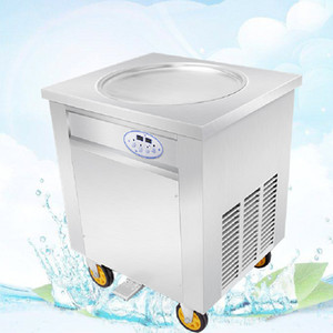 BEIJAMEI productos al por mayor Thai Fried Ice Cream Rolls máquina 110 v 220 v eléctrico frito máquina de helados