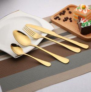 الذهب السكاكين شوكة سكين أواني القهوة خلط ملعقة حساء مغرفة أدوات المائدة أطباق المائدة المطبخ OOA4804