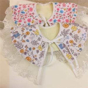 8pcs lot New Baby Feeding Bibs Burp Cloths Printed cotton cloth Kids Bibs Trottie pinafore Girls Pinafore