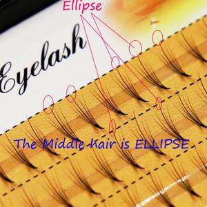 0.07mm 5D misturado comprimento C onda de cabelo cílios próprios enxertada elipse meio conjunto único plantio cílios postiços cabelo liso 0.07mm
