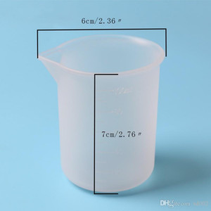 100 ml Taza de Silicona Crystal Glue Eco Friendly Lab Tazas de Medición Para DIY Herramientas de BRICOLAJE Cocina Para Hornear Accesorios Con Escala Práctico 1 7ky ZZ