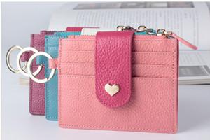 Nouveau sac femme peut aimer plus le sac de carte en cuir véritable boucle mini-dame japonaise et coréenne zéro fabricants de portefeuille vente directe
