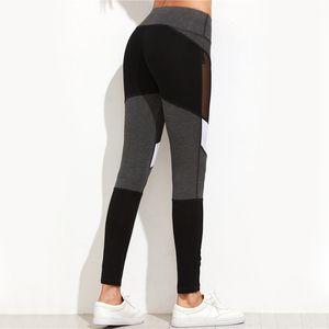 Patchwork New Casual Leggings Mujeres Fitness Leggings Bloque de color Otoño Invierno Pantalones de entrenamiento Nueva llegada Malla Insertar Leggings