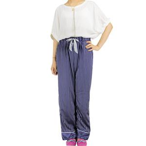 패션 여성 Pijama 바지 새틴 Pyjama 바지 신축성 허리 수면 여성 Sleep Pantalons Pyjama Bottoms Calca Feminina