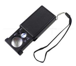 Portable 30X 60X Loupes LED Light High Powered Jewel Mini Pieghevole Lente d'ingrandimento Gioielli Magnifier Pocket Microscope 5 2xx Z
