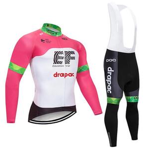 EF 교육 첫 번째 팀 2018 남자 저지 도로 자전거 바지 정장 봄 가을 긴 소매 사이클링 의류 MTB 경주 sportwear 100401Y