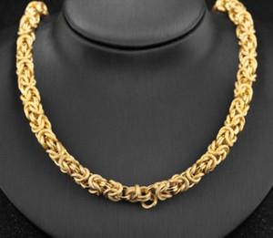 유럽 미국의 새로운 남자 패션 쥬얼리 18K 금도금 수도꼭지 목걸이 체인 크리스마스 선물
