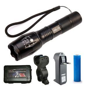Zoom Mini T6 LED Lampe Torche Tactique 3000 Lumens Étanche 5 Modes Vélo Vélo Lumière Rechargeable 18650 Chargeur Vélo Lampe Clip
