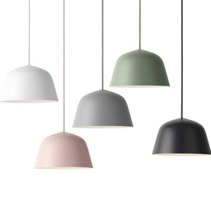Modern simple pendant lights macaron colorido pendurado luz rosa verde branco único droplight cabeça para quarto de crianças quarto restaurante luz