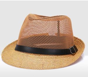 6 cores ao ar livre moda handwork mulheres verão linho chapéu de sol boho praia chapéu fedora sunhat trilby homens panamá chapéu gangster cap