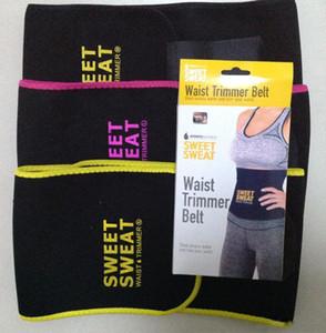 MOQ 1 PCS !!! 3 Colores 3 Tamaños Sweet Sweat Cintura Premium Trimmer Cinturón Unisex Adelgazante Cintura de ejercicio con paquete al por menor Envío gratuito