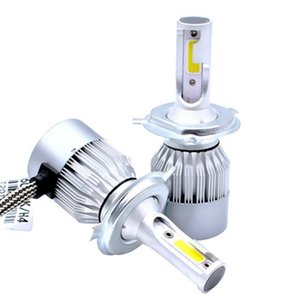 Edison2011 Car Head Light LED C6 Car headlights H1 H3 H4 H7 9006 COB auto front fog light bulb 7200LM 9V-36V 6000K Headlight