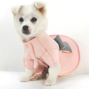Vestidos de cão de estimação maré marca cute filhote de cachorro de pelúcia schnauzer vestuário princesa estilo pequeno cão cat dress 2 peças / lote