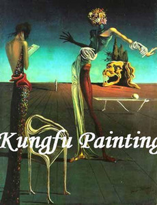100% pintado à mão arte da parede do óleo famoso artista pinturas reprodução Salvador Dali artwork home decoration