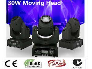 DMX Stage ponto Movendo LED Mini Moving Head Light 30W DMX dj 8 gobos efeito de palco luzes