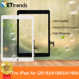 Touch Glass Screen Assembly with Original Repair Parts for iPad Air 2018 A1893 A1954 With Home Button & 3M Adhesive DHL Free Shipping