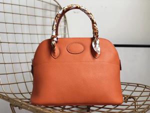2018 nuevos bolsos de cuero genuino de las mujeres de gama alta caja de herramientas Diseñador H Marca Hombro Crossbody Bolsos Bolsas de viaje y embragues Correas largas