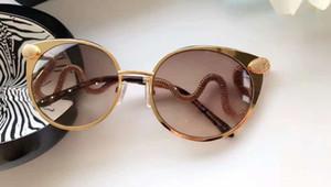 Kadınlar RC 890 S Kristal Yılan Güneş Gözlüğü Parlak Işık Bronz / Kahverengi Grad Sonnenbrille güneş gözlükleri Açık Güneş Gözlüğü Yaz Yeni ...